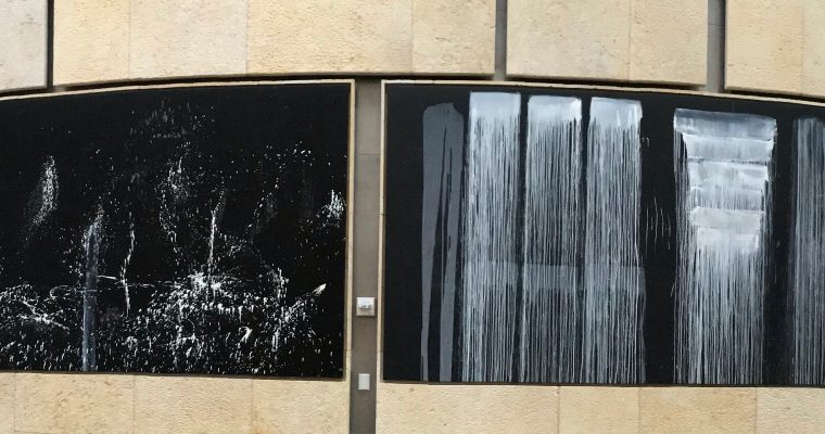 Pat Steir's Silent Secret Waterfalls: The Barnes Series