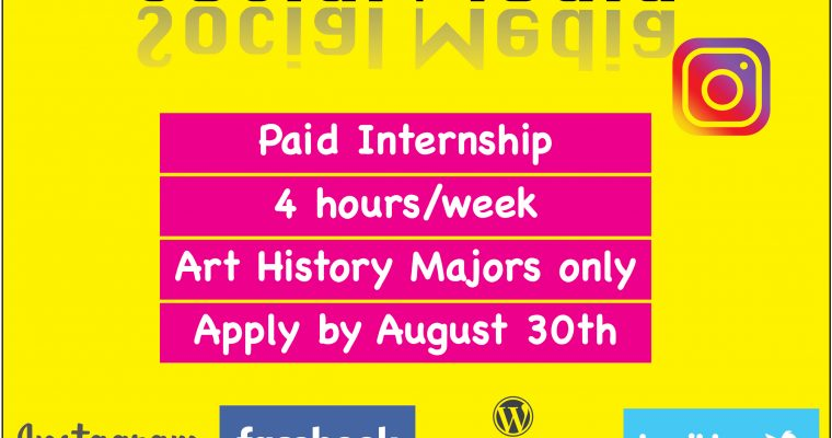 Call for Application: Art History Media Internship- Fall 2019